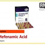 Mefenamic Acid (Ponstan) Drug Study