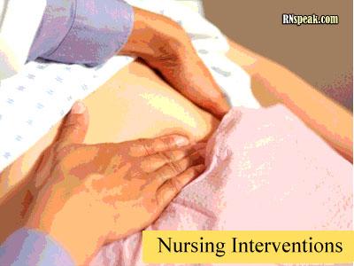 nurse palpate stomach