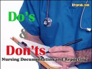 nursing documentation and report