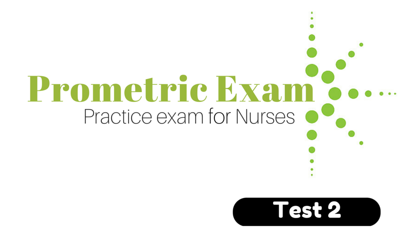 Prometric Exam Practice Test For Nurses Test 2