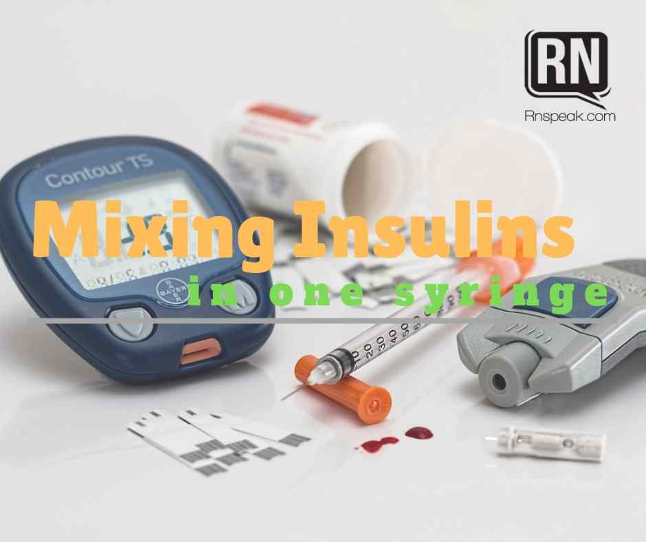mixing insulin one syringe