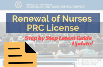 prc renewal updates 2018 step by step