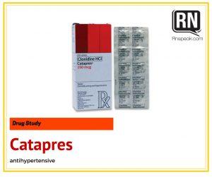catapres drug study