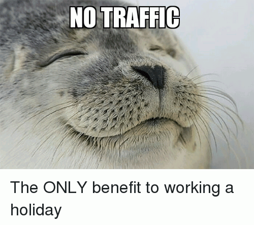 no traffic hliday