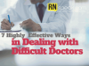 dealing with difficult doctors
