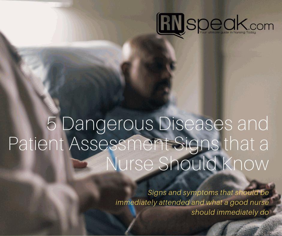 dangerous patient assessment signs
